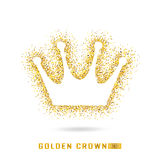 Goldene Krone, wenn Art gefunkt wird Kalte Funkelnbeschaffenheit Goldenes glo Lizenzfreies Stockfoto