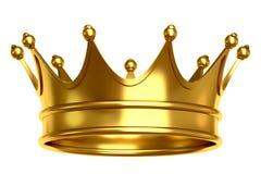 Goldene Kronenabbildung Lizenzfreies Stockfoto