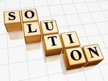 Goldene Lösung 2 Lizenzfreie Stockfotos