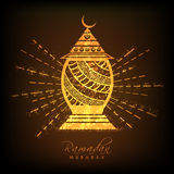 Goldene Lampe für Ramadan Mubarak Stockfoto