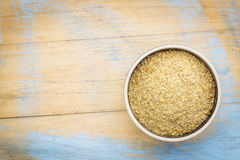 Goldene Leinsamenmahlzeit Stockfotos