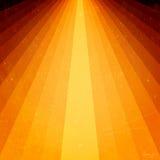 Goldene Lichtstrahlen mit grunge Elementen Lizenzfreies Stockfoto