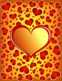 Goldene Liebes-Karte Stockfoto