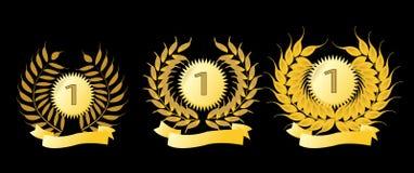 Goldene Lorbeer-Kränze Lizenzfreies Stockbild