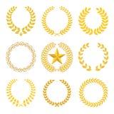 Goldene Lorbeer Wreaths Lizenzfreies Stockfoto