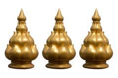 Goldene Lotosstatue stockfoto