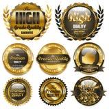 Goldene Luxfahnen lizenzfreie abbildung