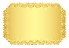 Goldene Luxuseinladung mit Spitzensaum Lizenzfreies Stockbild