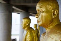 Goldene Mönche Stockbild