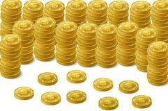 Goldene Münze Stockfotos