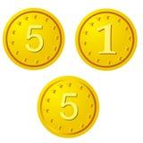 Goldene Münzen Stockfoto