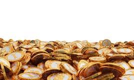 Goldene Münzen mit Dollarsymbol Lizenzfreie Stockfotos