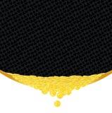 Goldene Münzen und Klagen, die Hintergrund spielen Stockfotografie