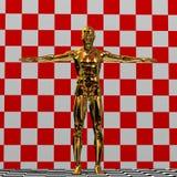 Goldene Mannabbildung Stockbilder