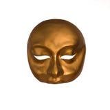 Goldene Maskerade-Schablone Stockfotos
