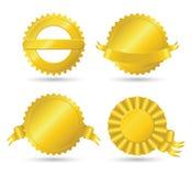 Goldene Medaillons Stockbilder