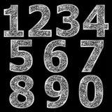 Goldene metallische glänzende Zahlen Lizenzfreie Stockbilder