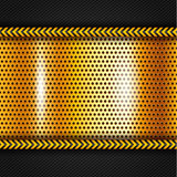 Goldene metallische Oberfläche Lizenzfreie Stockfotos
