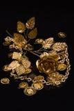 Goldene Metallprodukte Stockfotografie