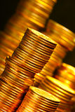 Goldene Münzen Stockbilder