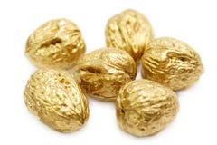 Goldene Nüsse Stockbilder