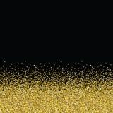 Goldene nahtlose Beschaffenheit des Funkelns Stockfotografie