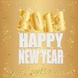 goldene 2014 neues Jahr Stockfoto