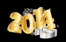 Goldene 2014 new year Royalty Free Stock Image