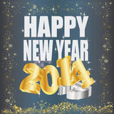 Goldene 2014 new year Royalty Free Stock Photo