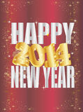 Goldene 2014 new year Royalty Free Stock Photos
