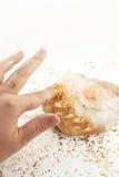 Goldene Note Stockbild
