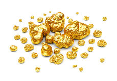 Goldene Nuggets Lizenzfreies Stockfoto