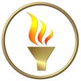 Goldene olympische Flamme