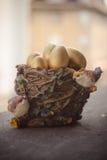 Goldene Ostereier Stockbild