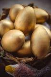 Goldene Ostereier Lizenzfreie Stockfotos