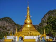 Goldene Pagode auf Myanmar Stockfotografie