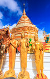Goldene Pagode bei Wat Phra That Doi Suthep, Thailand lizenzfreie stockbilder