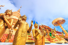 Goldene Pagode bei Wat Phra That Doi Suthep, Thailand stockbilder