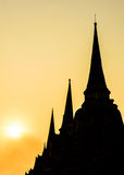 Goldene Pagode beim Thailand Lizenzfreies Stockfoto