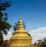 Goldene Pagode in Chiang Mai, Thailand Lizenzfreies Stockbild