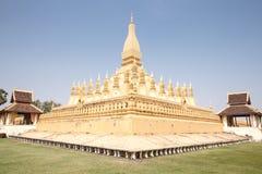 Goldene Pagode in Vientiane, Laos Stockbild