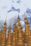 Goldene Pagoden Lizenzfreies Stockfoto