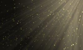 Goldene Partikel Lizenzfreie Stockfotografie