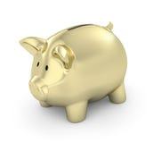 Goldene Piggy Querneigung vektor abbildung