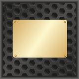 Goldene Plakette Stockfotografie