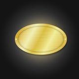 Goldene Platte Stockfotos