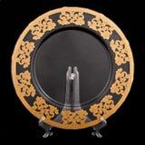 Goldene Platte Stockbild