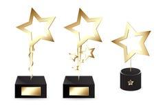 Goldene Preise Stockbild
