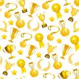 Goldene Preise, nahtloses Muster Stockfotos