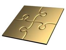 Goldene Puzzlespiele Lizenzfreies Stockfoto